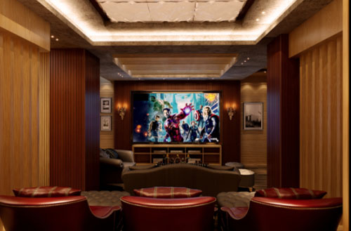 乐享地下室内的私人影音空间,观影娱乐随意切换