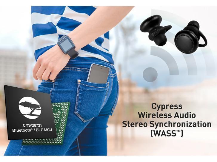 Cypress蓝牙音频解决方案为无线耳机设备提供了强大的性能